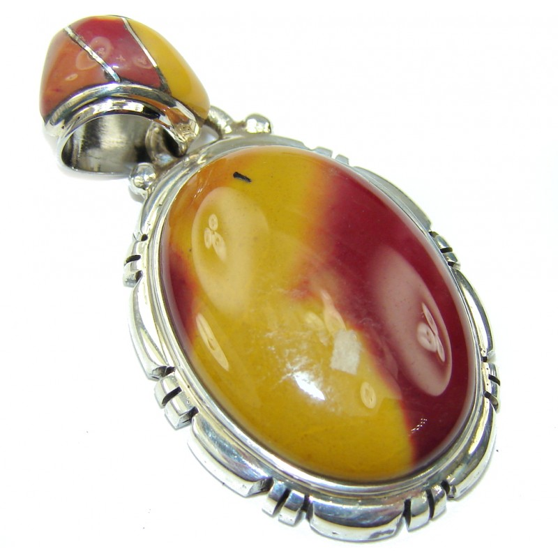 Just Perfect! Australian Mookaite Sterling Silver Pendant