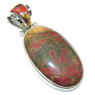 Fabulous! AAA Red Creek Jasper Sterling Silver Pendant