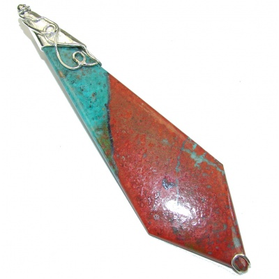 Large! Massive AAA Red Sonora Jasper Sterling Silver Pendant