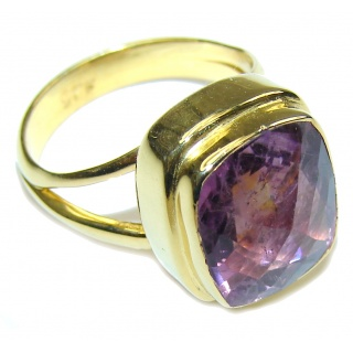 Delicate Purple Amethyst Sterling Silver ring s. 6 1/2