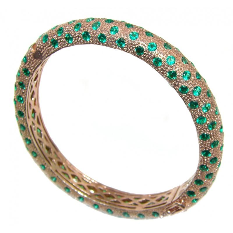 Chrome Diopside Bangle Bracelet