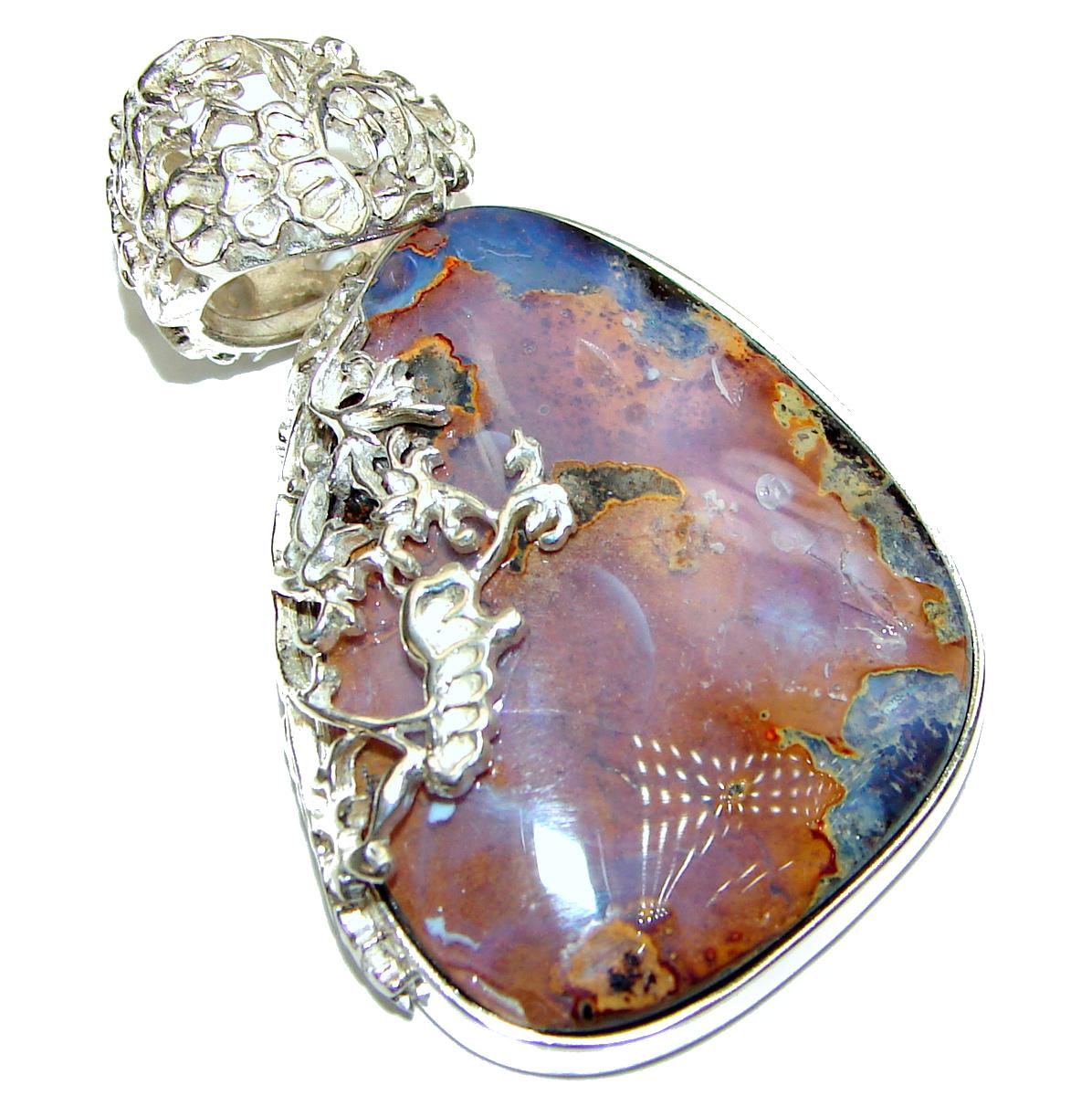 Australian Boulder Opal Pendant 925 Sterling Silver