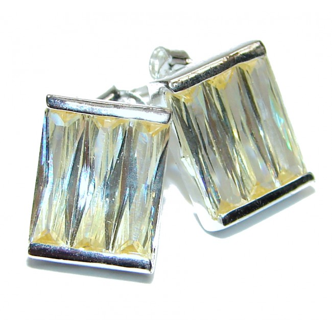Cubic Zirconia .925 Sterling Silver handmade earrings