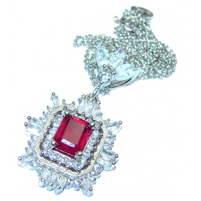Incredible quality Ruby .925 Sterling Silver necklace