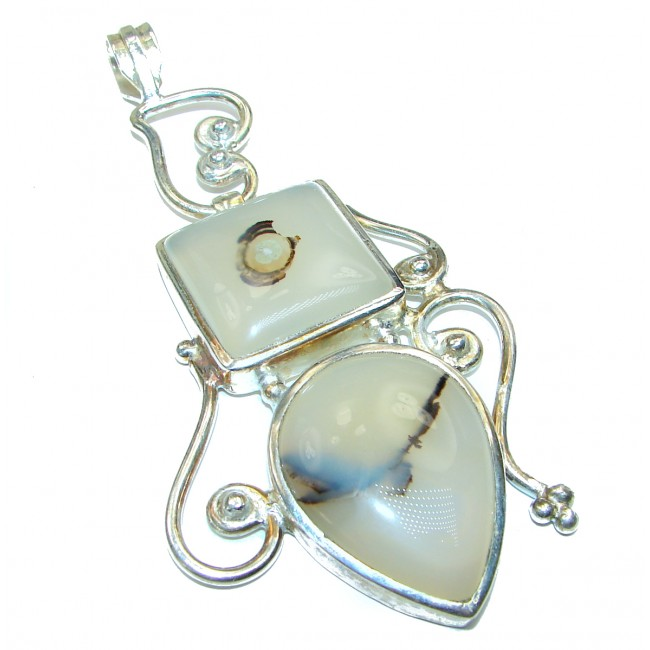 Botswana Agate .925 Sterling Silver handcrafted Pendant