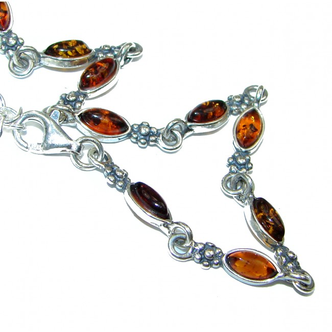 Ancient Stories Baltic Amber .925 Sterling Silver handcrafted Bracelet
