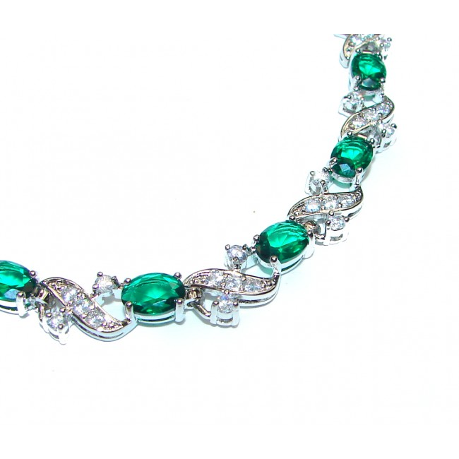 Luxurious Green Topaz .925 Sterling Silver handcrafted Bracelet