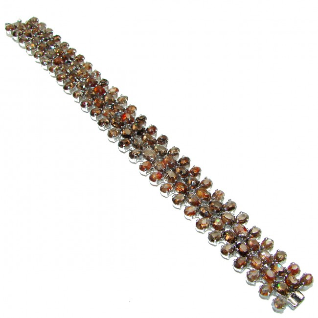 Get Glowing authentic Champagne Topaz .925 Sterling Silver handcrafted Bracelet