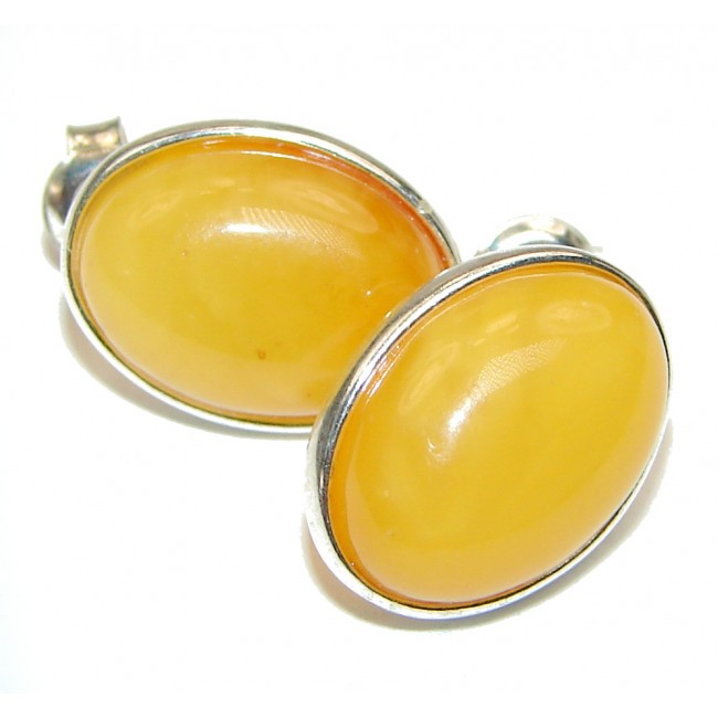 Castaway Amber .925 Sterling Silver entirely handcrafted STUD earrings