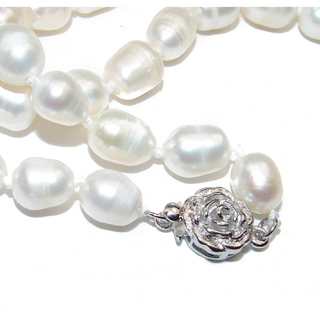 Mother of Pearl .925 Sterling Silver handmade Necklace