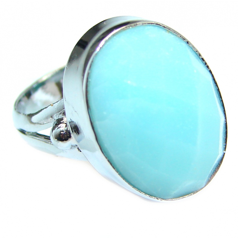 T- 1 4 inch weight 11.50g Chalcedony Agate Sterling Silver Ring code 10-wrz-20-182 dim L- 1 W- 1 2 Size 6