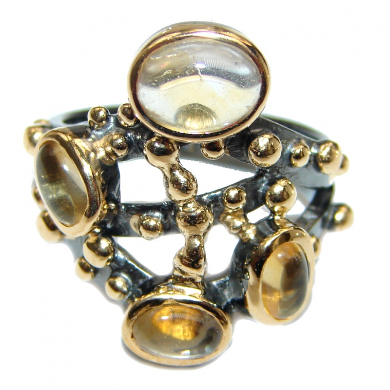 Citrine and Droplets Fashion Ring