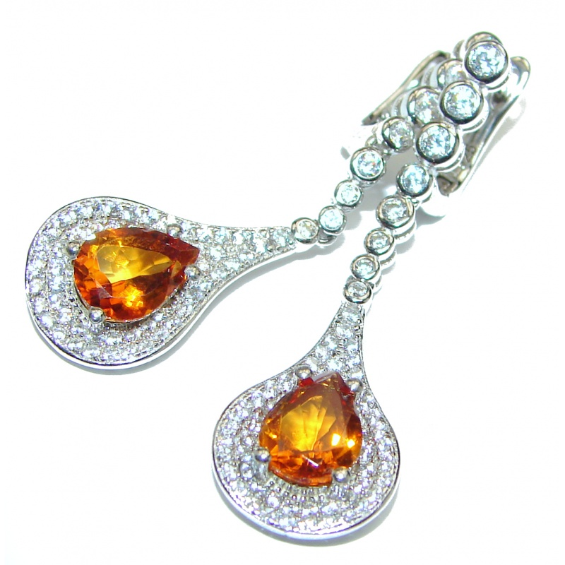 Citrine and Topaz Bubble Drop Earrings