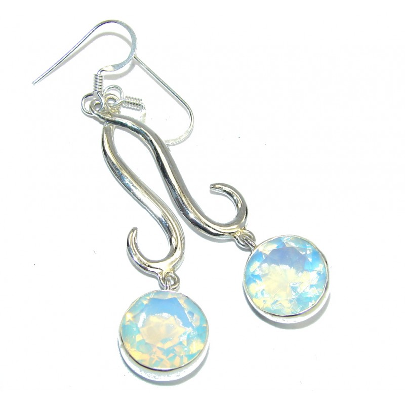 Light Blue Opalite Sterling Silver Earrings