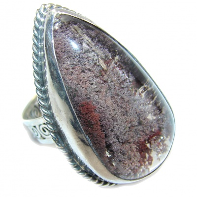 Top Quality AAA + Brown Sandstone Sterling Silver ring s. 9