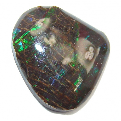 Natural Canadian Dragon Skin Green Ammolite 3.6ct Stone