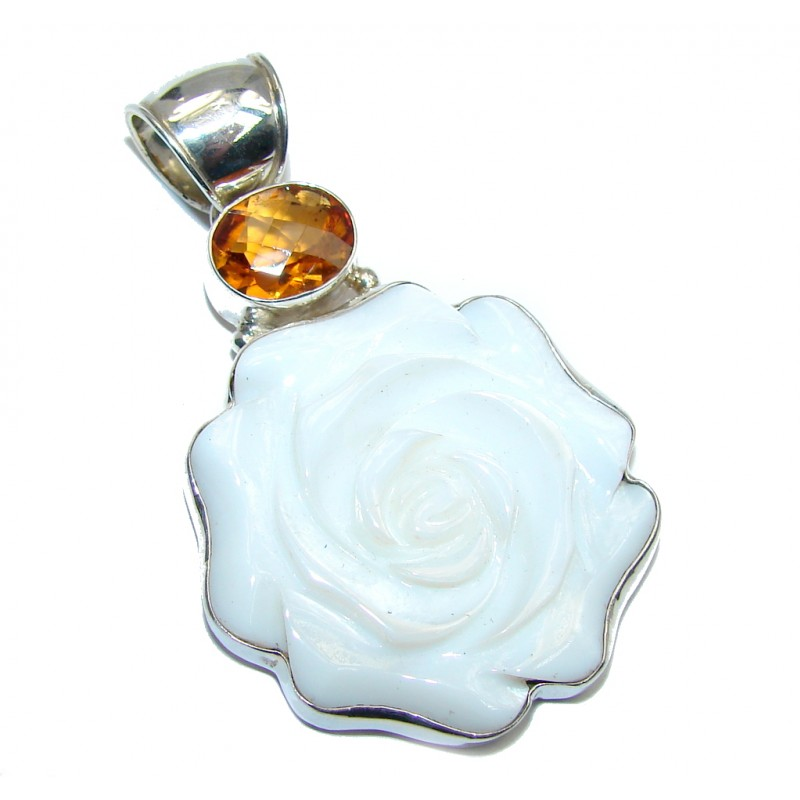 Oriantal Blister Pearl Sterling Silver pendant