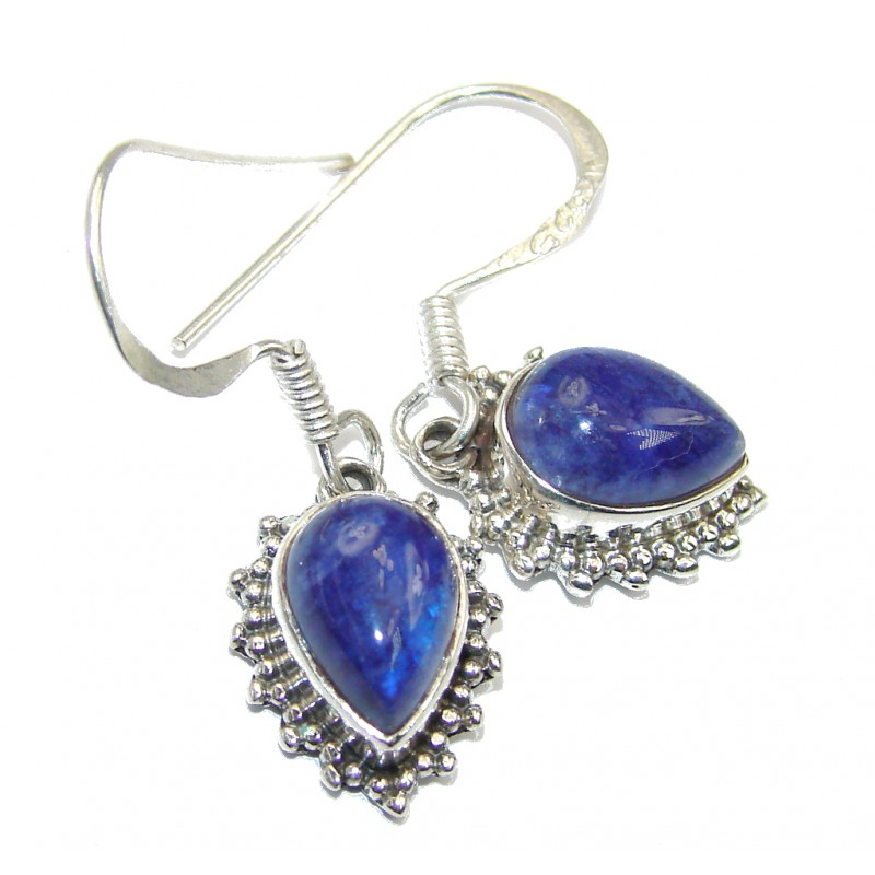 Perfect Handcrafted Blue Lapis Lazuli Sterling Silver earrings