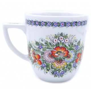 Entirely Hand painted Porcelain Mug