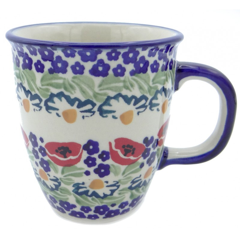 SilverrushStyle - Polish Pottery Coffee Mug - Poppies Collection