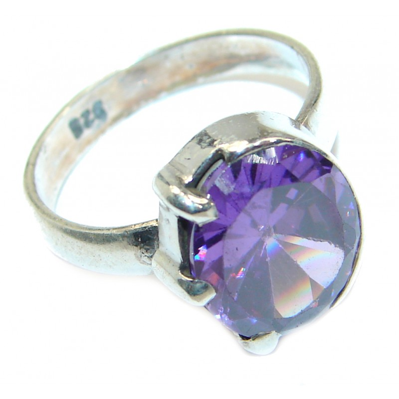 Magic Cubic Zirconia .925 Sterling Silver handmade Ring s. 7