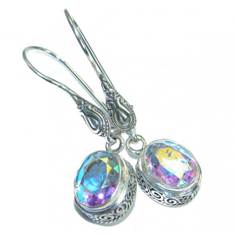 Just Perfect White Opal Quartz .925 Sterling Silver earrings