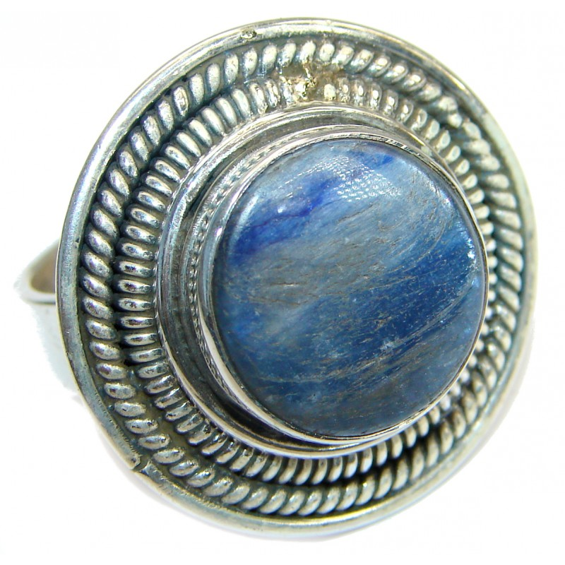 Authentic Australian Blue Kyanite .925 Sterling Silver handmade Ring s. 8