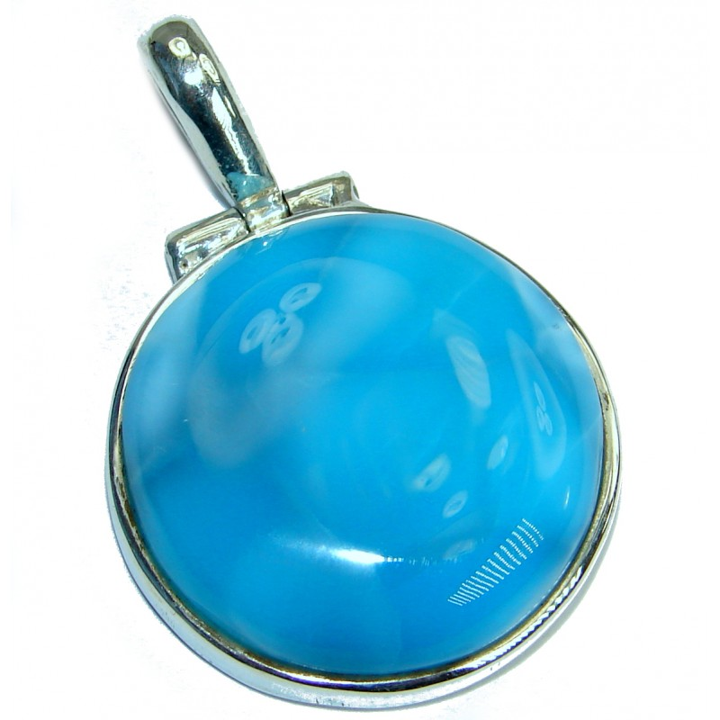 Amazing Quality Larimar .925 Sterling Silver handmade pendant
