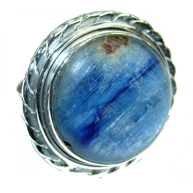 Authentic Australian Blue Kyanite .925 Sterling Silver handmade Ring s. 6