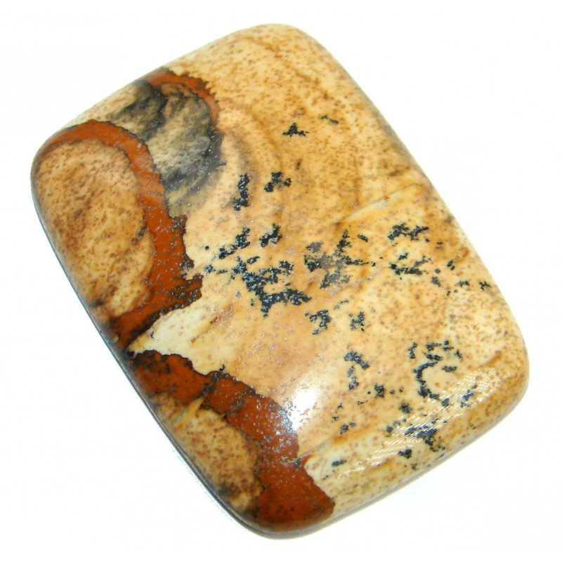 Excellent quality Brown Picture Jasper 35ct Stone