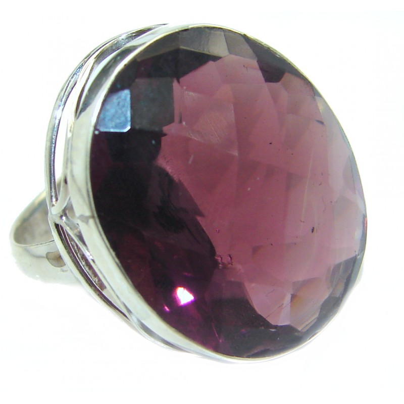 Best Quality Quartz .925 Sterling Silver ring s. 7