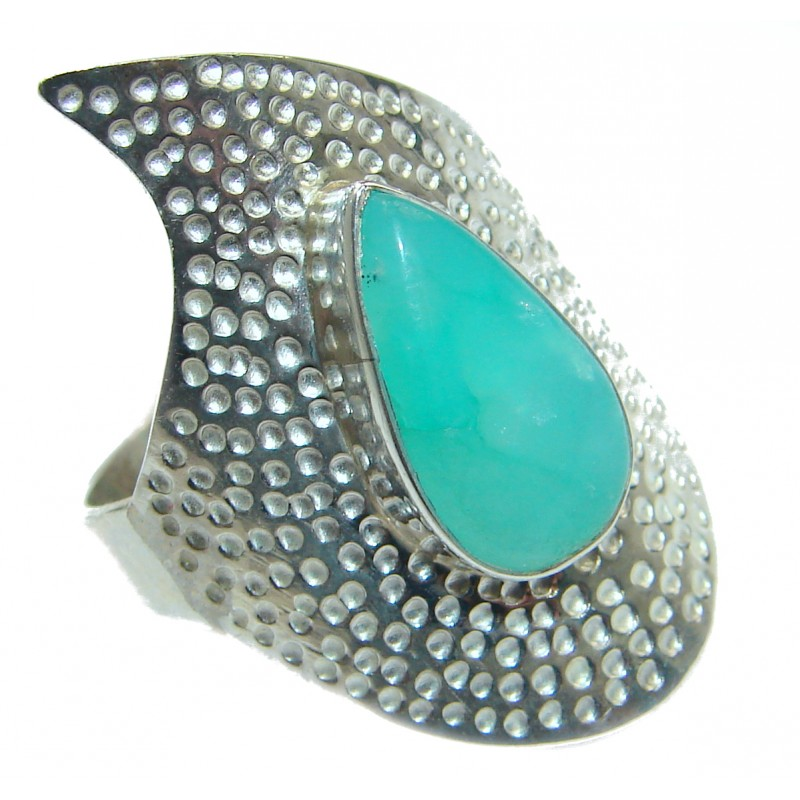 Good Energy Chrysophrase .925 Sterling Silver Ring s. 9