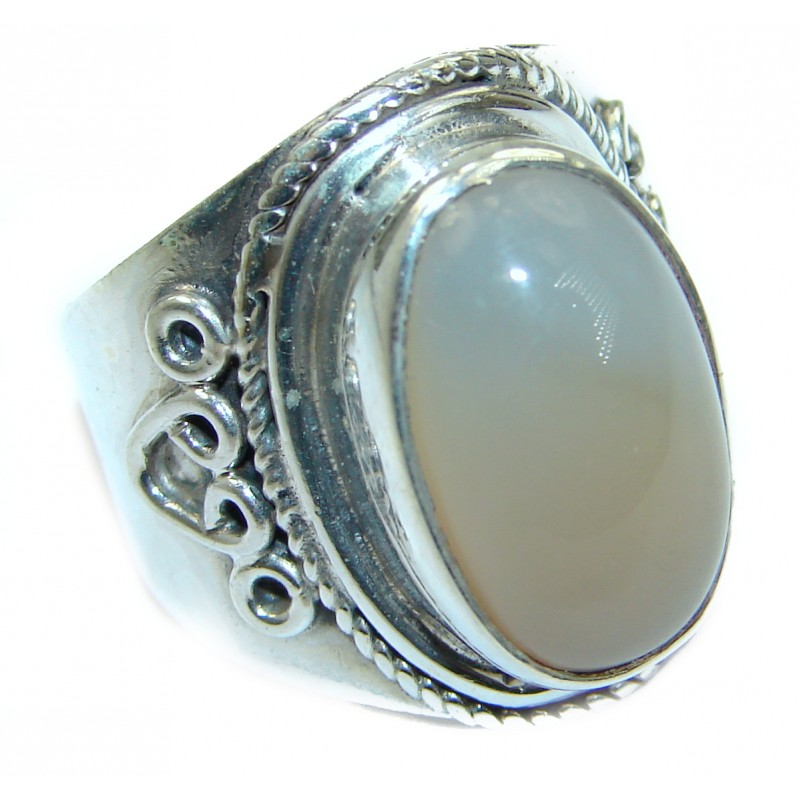Amazing Golden Calcite Sterling Silver Ring s. 6 1/2