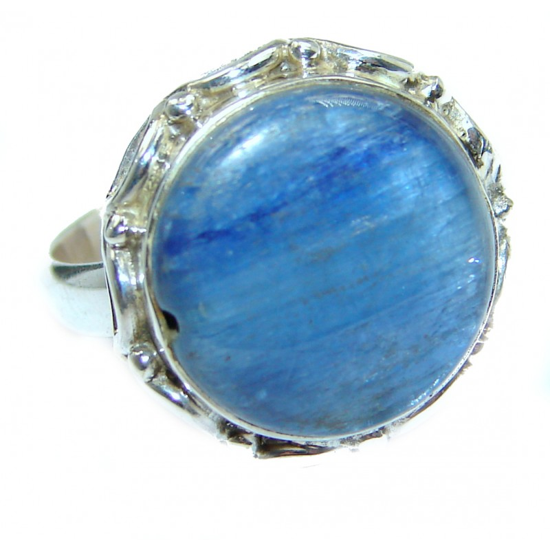 Authentic Australian Blue Kyanite .925 Sterling Silver handmade Ring s. 6 1/2