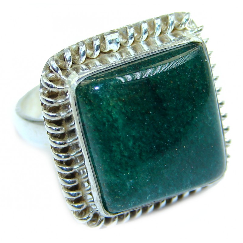 Majestic Aventurine .925 Sterling Silver handmade Ring s. 5 3/4