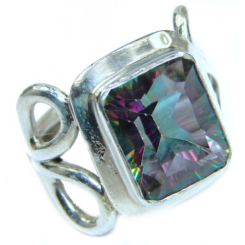 Magic genuine Topaz .925 Sterling Silver handmadel Ring s. 6