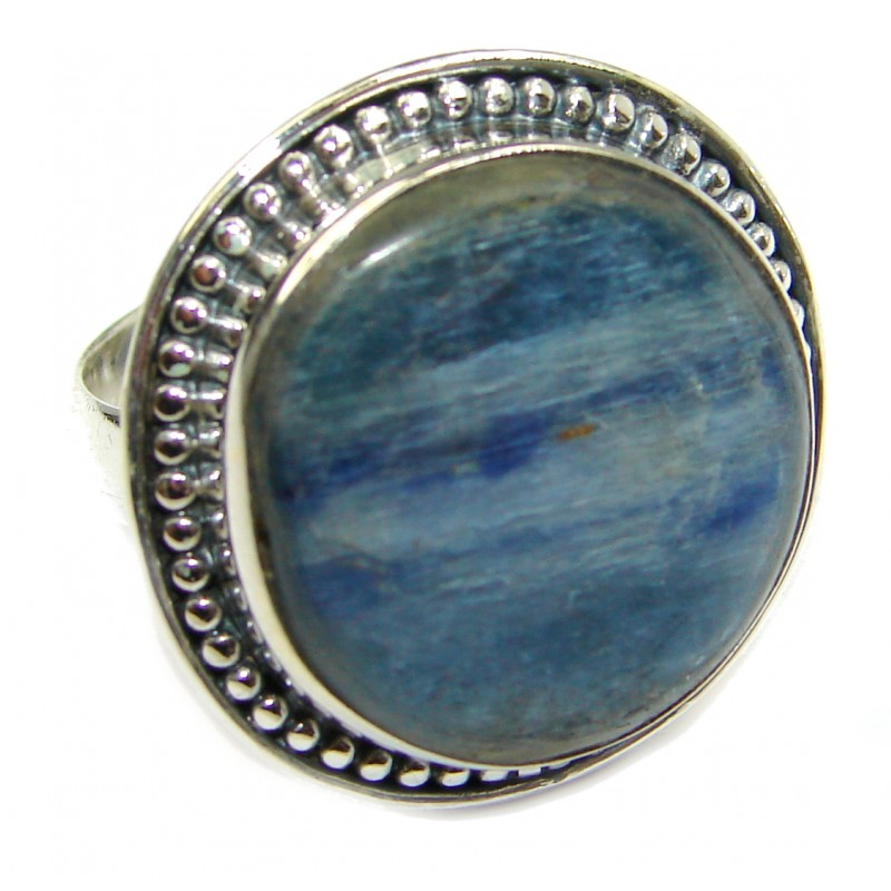 Authentic Australian Blue Kyanite .925 Sterling Silver handmade Ring s. 7