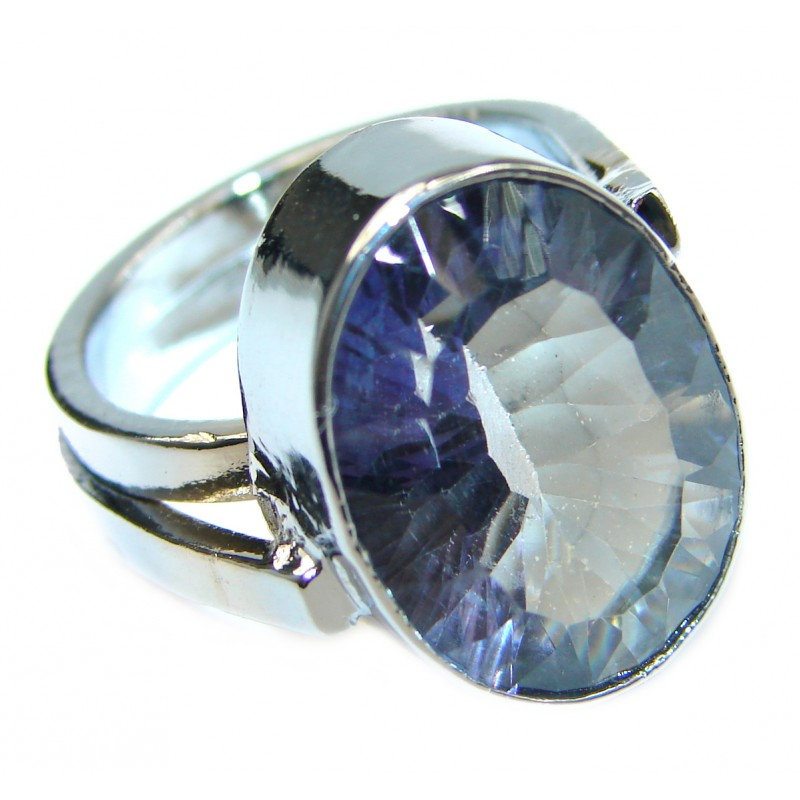 Magic genuine Topaz .925 Sterling Silver handmadel Ring s. 7