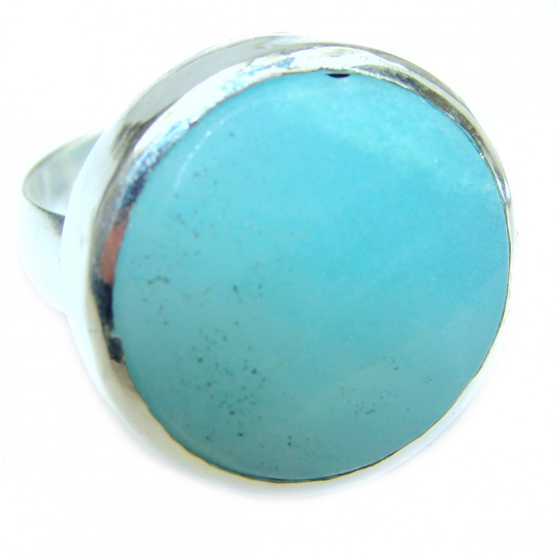 Beauty of Nature Botswana Agate .925 Silver Ring s. 8