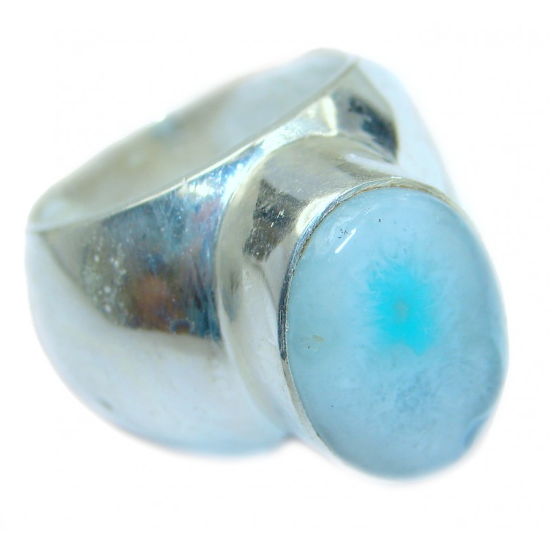 Exotic Druzy Agate .925 Silver Ring s. 8 1/2