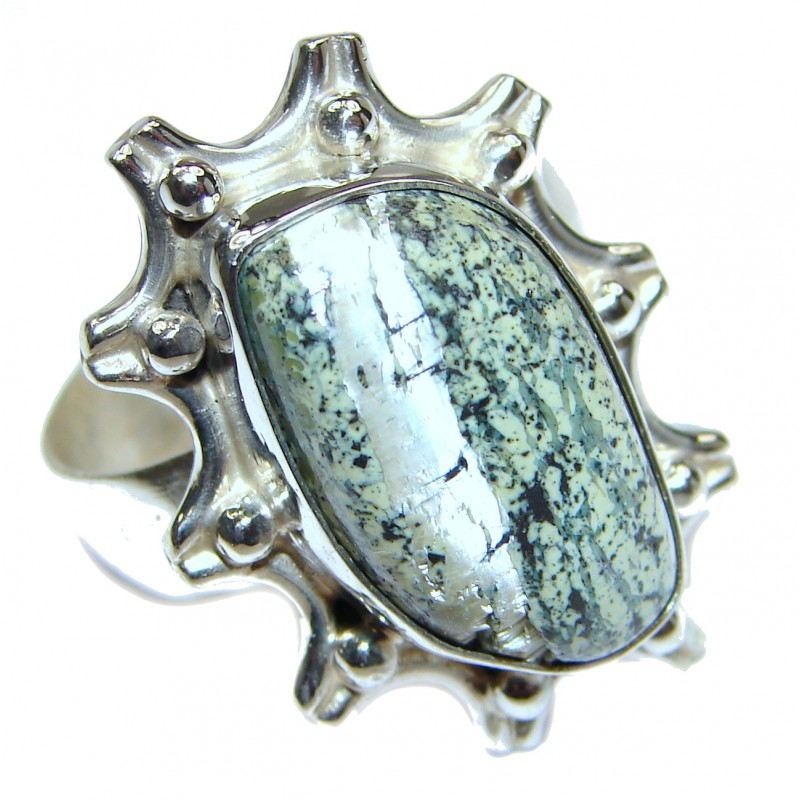 Great quality Russian Seraphinite .925 Sterling Silver handcrafted Ring size 11