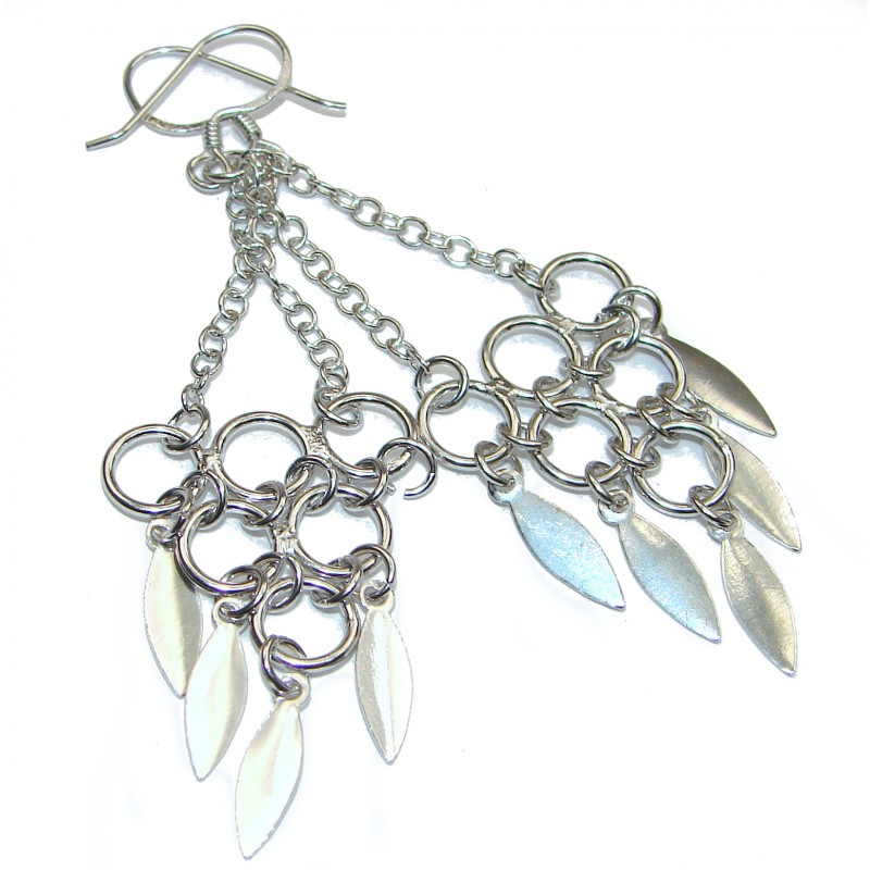 BIG Bali Design .925 Sterling Silver handcrafted Earrings