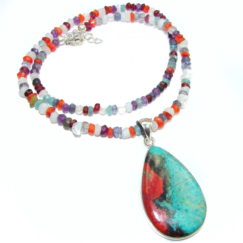 Best quality Sonora Jasper .925 Sterling Silver handmade Necklace