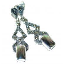 Genuine Rainbow Abalone .925  Sterling Silver handmade earrings