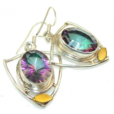 Stylish Magic Topaz Sterling Silver earrings