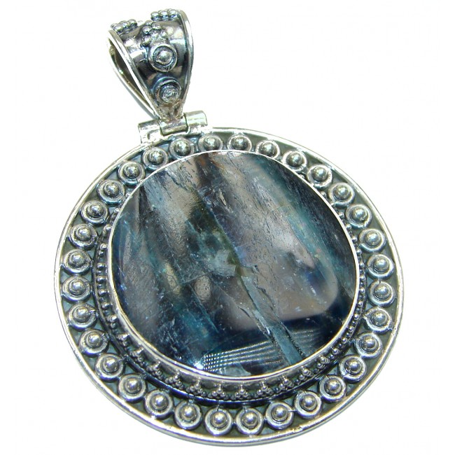 Spectacular African Kyanite .925 Sterling Silver handcrafted pendant