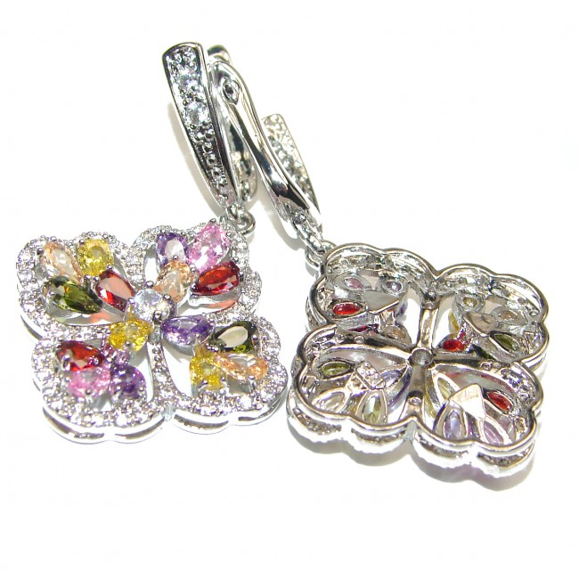 Gianna Cubic Zirconia .925 Sterling Silver brilliantly handcrafted earrings