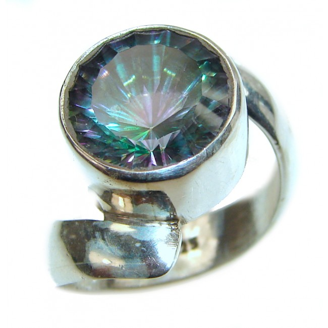 Awesome Natural Magic Topaz .925 Silver Ring size 9
